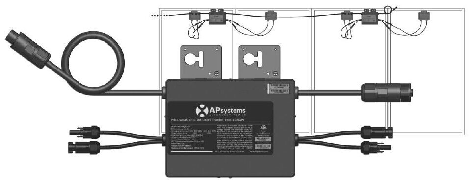 YC500A BR Micro Inversor APsystems W28 Engenharia