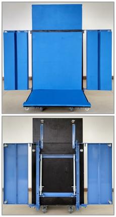Plataforma Vario Customizada - Aberta - para Uso no Elevador Inclinado GEDA Lift 250 Comfort